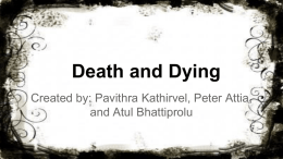 Death and Dying: Storyboard