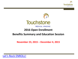 s Rock ENROLL - Touchstone Home Page