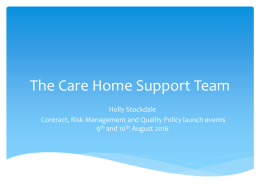 The Care Home Support Team - Registered Care Providers