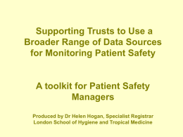 2940 070820 Using local data sources for patient safety