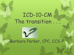 ICD-10-CM The transition - Silverdale WA Local AAPC