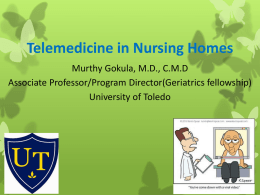 Telemedicine in Nursing Homes