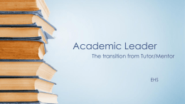 Academic Leader workshop 1