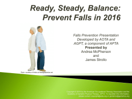 Falls Prevention - Summit on Aging and Independence