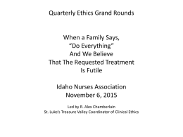 patient and family - Idaho Nurses Association