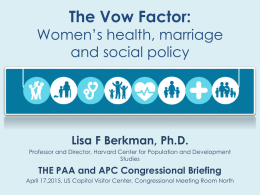 The Vow Factor - Population Association of America