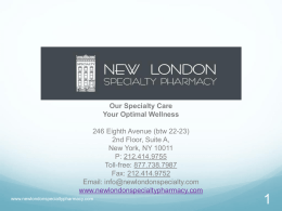 Click here to view New London Specialty Women`s Care Presentation