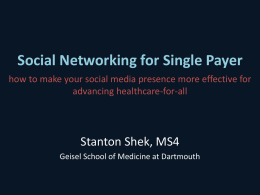 Social Networking - Physicians for a National Health Program