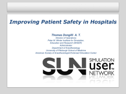 Improving Patient Safety in Hospitals | Thomas Dongilli, A.T