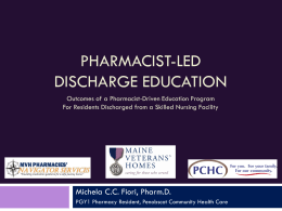 Pharmacist-led Discharge Education