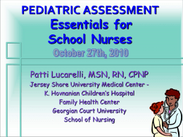 pediatric assessment - American Academy of Pediatrics, New Jersey
