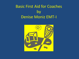 First Aid Training - Littleton Youth Lacrosse
