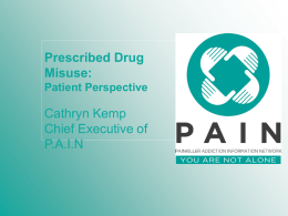 Cathryn Kemp - APPG for Prescribed Drug Dependence