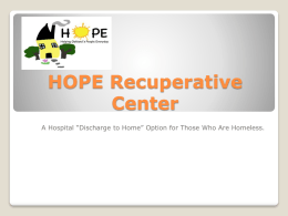 HOPE Recuperative Center