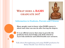 what does a BAMS graduate do - Ayur Info