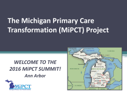 The Michigan Primary Care Transformation
