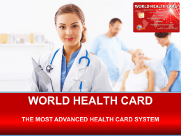 THE SYSTEM - world health card
