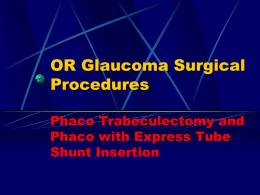 Update On Neovascular Glaucoma