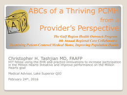 ABC`s of PCMH - Introduction
