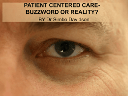 patient centered care buzzword or reality