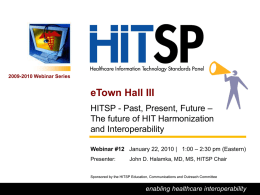 HITSP_eTown Hall