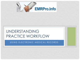 The Practice Workflow Overview