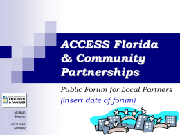 Partner - Florida Department of Economic Opportunity