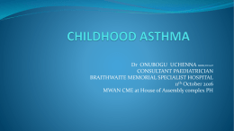 2016 Paper on Childhood Asthma - Medical Women Association of
