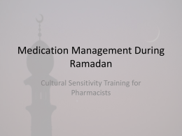 here - Medication Management during Ramadan