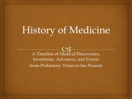 New History of Medicinem