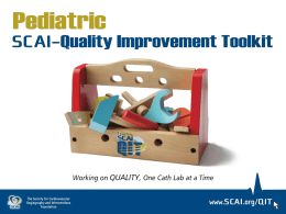 SCAI Pediatric Quality Improvement Toolkit: Procedural Checklist