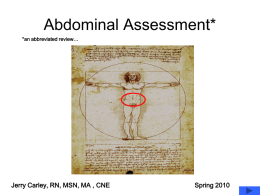 Abdominal Assessment Abbreviated Reviewx