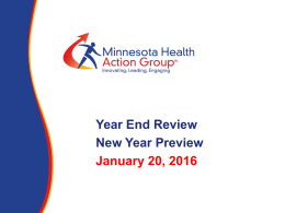 January Member Meeting: Year-end Review