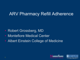Grossberg - Pharmacy Pickup Adherence