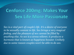 Cenforce: Makes Your Sex Life More Passionate