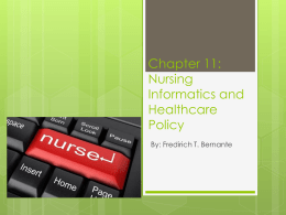 Chapter 10: Nursing Informatics and Healthcare