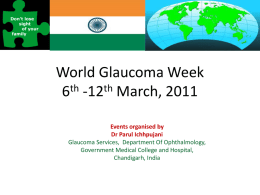 World Glaucoma Week 6th