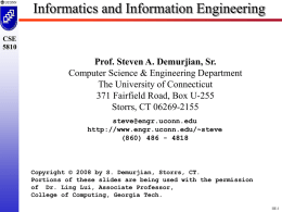 INFO ENGR PPT - University of Connecticut