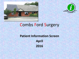 Patient Information Screen April 2016