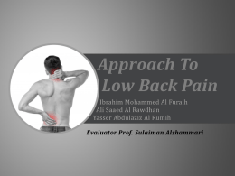 Approach to a patient with Back Painx2015-10-22 08