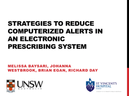 Identification of strategies to reduce computerized alerts in an