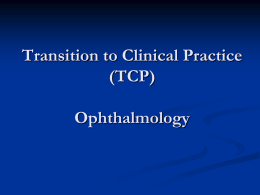 McGill Ophthalmology TCP lecture