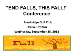 *END FALLS, THIS FALL!* Conference