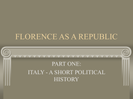 FLORENCE AS A REPUBLIC - Biomimetics and Dextrous