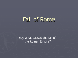 Fall of Rome - Dolgeville Central School