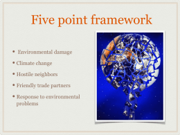 Five point framework - Mr. Clearwaters World history