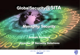 Security Solutions from SITA
