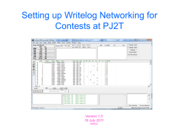 Setting Up Writelog Networking for Contests at PJ2T