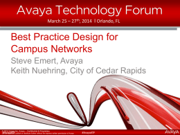ATF_Best Practice Design for an Avaya Fabric Connect Campus