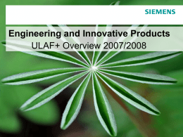 ULAF+ Overview 2008 EIP version 2